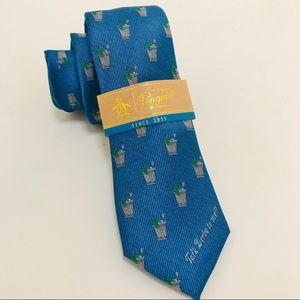 Penguin Blue Mint Julep Tie Kentucky Derby